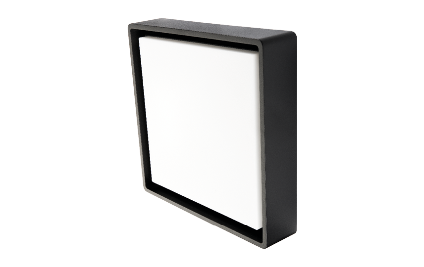 Frame Square Maxi Sort LED 3000K Sensor Nødlys